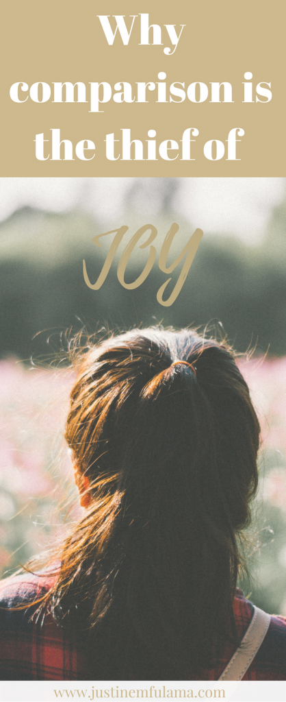 Why Comparison is the thief of joy