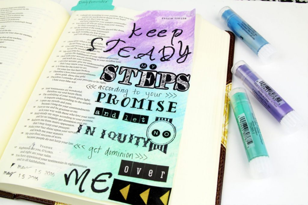Bible Journaling_ Faber Castell Gelatos
