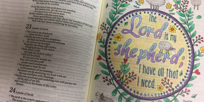 NLT Coloring bible