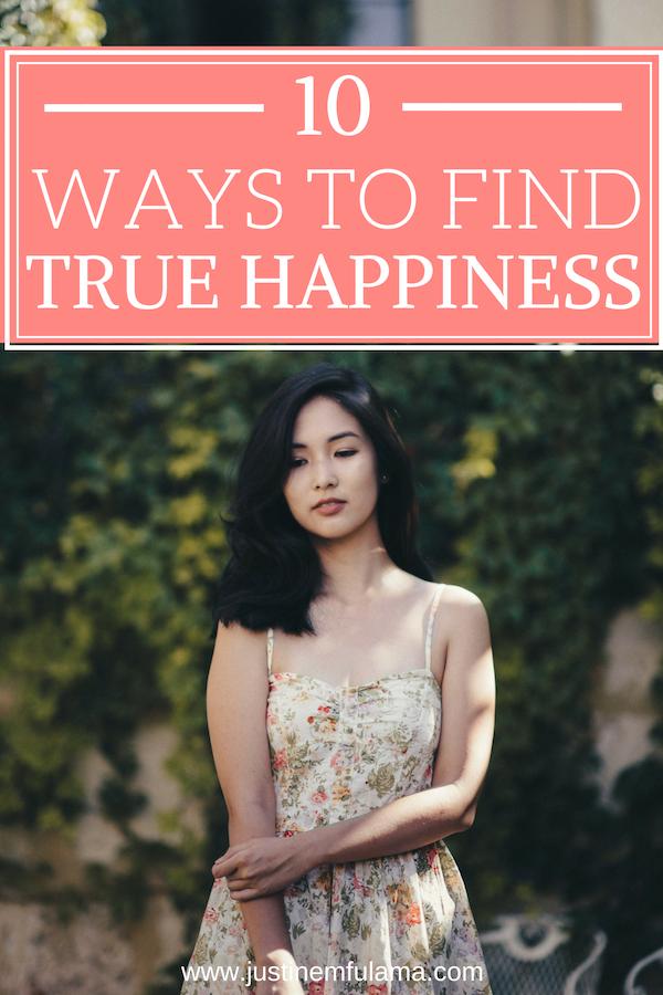10 ways to find true happiness